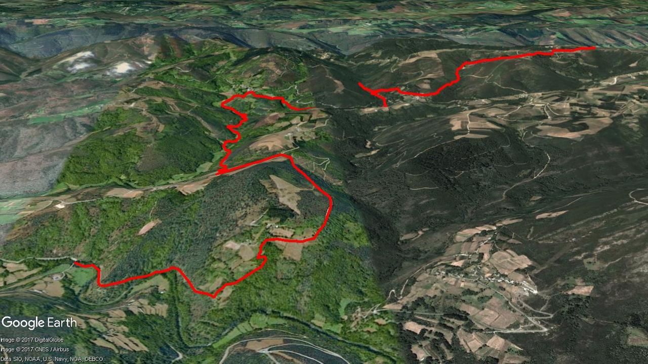 Mapa del recorrido Sendeiro de Quintá-Río Donsal