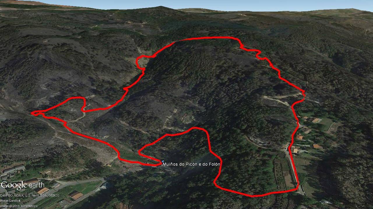 Mapa del recorrido Muiños do Picón e do Folón