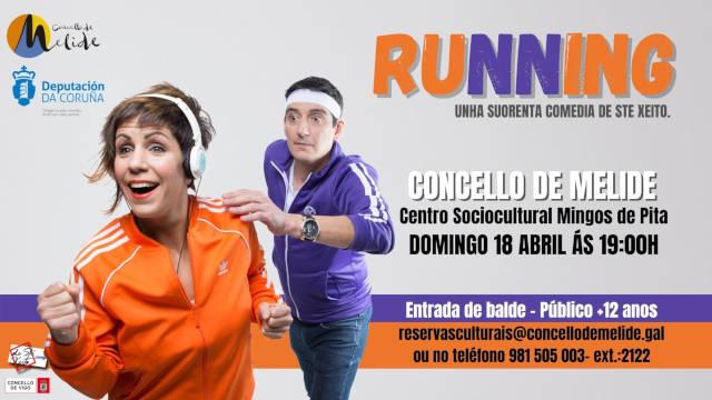 Running Teatro en Melide (Galicia)