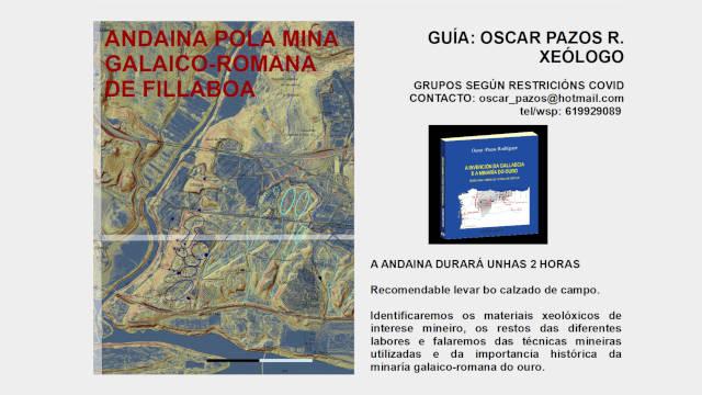 Andaina pola mina galaico-romana de Fillaboa (Galicia)